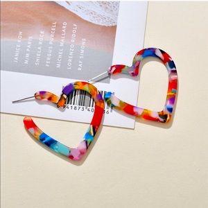 New Acrylic Heart Earrings